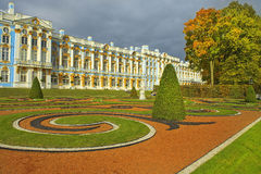 Golden autumn in Catherine park, Tsarskoye Selo Stock Photography