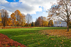 Golden autumn in the city park. Royalty Free Stock Photos