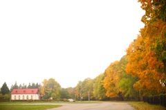 Golden autumn in Ivan Turgenev's estate Spasskoe-Lutovinovo. Russia Stock Photos