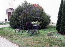Golden autumn, landscape design in the yard. stock image