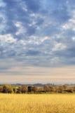 Golden autumn. Autumn morning on the farmland Stock Photography