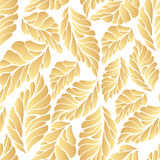 Golden autumn pattern Royalty Free Stock Images