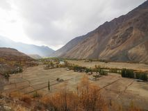 Golden Autumn In Phander Valley, Phander Lake, Ghizer District, Gilgit Baltistan, Pakistan Stock Photography
