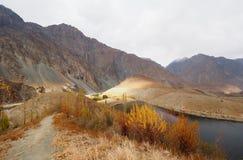 Golden Autumn In Phander Valley, Phander Lake, Ghizer District, Gilgit Baltistan, Pakistan Stock Photos