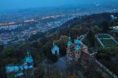 Golden autumn in Prague stock photo