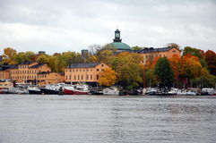 Golden autumn in Stockholm Stock Photo