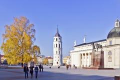 Golden autumn in Vilnius Stock Photo