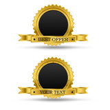Golden award badge Royalty Free Stock Photos