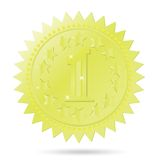 Golden award emblem Royalty Free Stock Photo