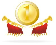 Golden award and flourish Royalty Free Stock Photo