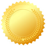 Golden award medal Stock Photo