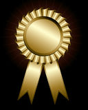 Golden award ribbon Stock Image