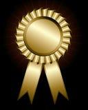Golden award ribbon Stock Image