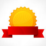 Golden award with ribbon Royalty Free Stock Photography