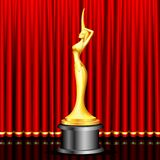 Golden Award on Stage stock illustration