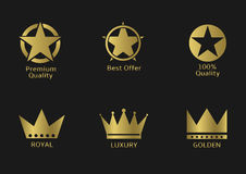 Golden awards Royalty Free Stock Photo