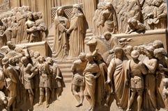 Golden ba-reliefs Stock Image