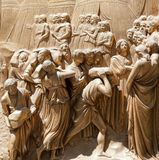Golden ba-reliefs in Florence Stock Photos