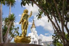Golden Baby Buddha Statue and five sitting Buddha statues at Wat Pha Sorn KaewWat Phra Thart Pha Kaewin Khao Kho,Phetchabun,nort stock photography