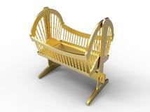 Golden baby crib Royalty Free Stock Photography