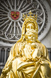 Golden baby Jesus and mother Mary Royalty Free Stock Photography