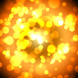 Golden backdrop. With bokeh effect on background lights stock illustration