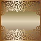 Golden background. With floral decoration Royalty Free Stock Photo