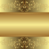 Golden background. With floral ornaments Royalty Free Stock Photos