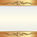 Golden background. With ornaments and space for text Stock Photo