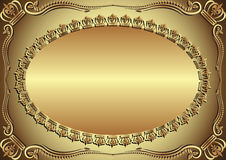Golden background. With ornaments and copy space Stock Photos
