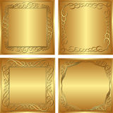 Golden  background. Set of golden  backgrounds -   illustration Stock Image