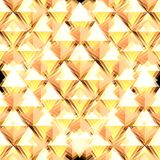 Golden background. Made of gold yellow rhombus. Illustration made on computer Royalty Free Stock Image