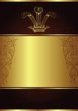 Golden background. Illustration of golden design background Royalty Free Stock Photography