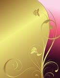 Golden background. Illustration of golden floral background Stock Images