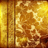 Golden background. Decorative golden background with classy patterns Royalty Free Stock Photo