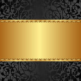 Golden background. With abstract floral ornaments Royalty Free Stock Images