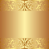 Golden background. With abstract ornaments Stock Image