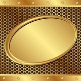 Golden background. With  banner - vector illustration Stock Photography