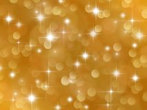 Golden background with boke effect and stars stock photos