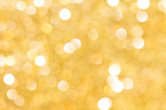 Golden background with bokeh Stock Photo