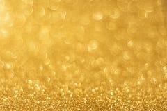 Golden background bokeh Stock Photo