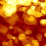Golden background. Bright golden background with some blurred lights in it Royalty Free Stock Photos