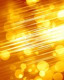 Golden background. Bright golden background with some blurred lights in it Royalty Free Stock Images