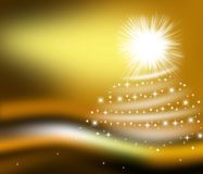 Golden Background CHRISTMAS. Stock Image