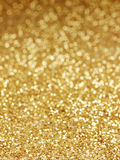 Golden background of defocused abstract lights Royalty Free Stock Images