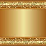 Golden background. With floral ornaments Royalty Free Stock Image