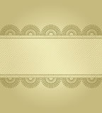 Golden background with lace Royalty Free Stock Photo