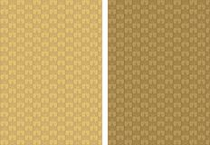 Golden background with ornament Stock Image