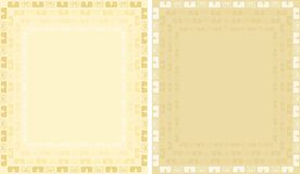 Golden background with ornament Stock Images
