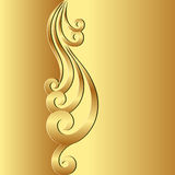 Golden background. With ornament - vector illustration Royalty Free Stock Images